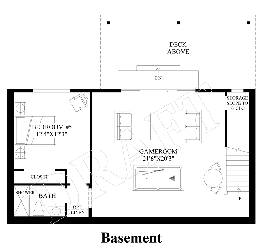 Bayview at gig harbor the aldwell home design for Design your own basement floor plans