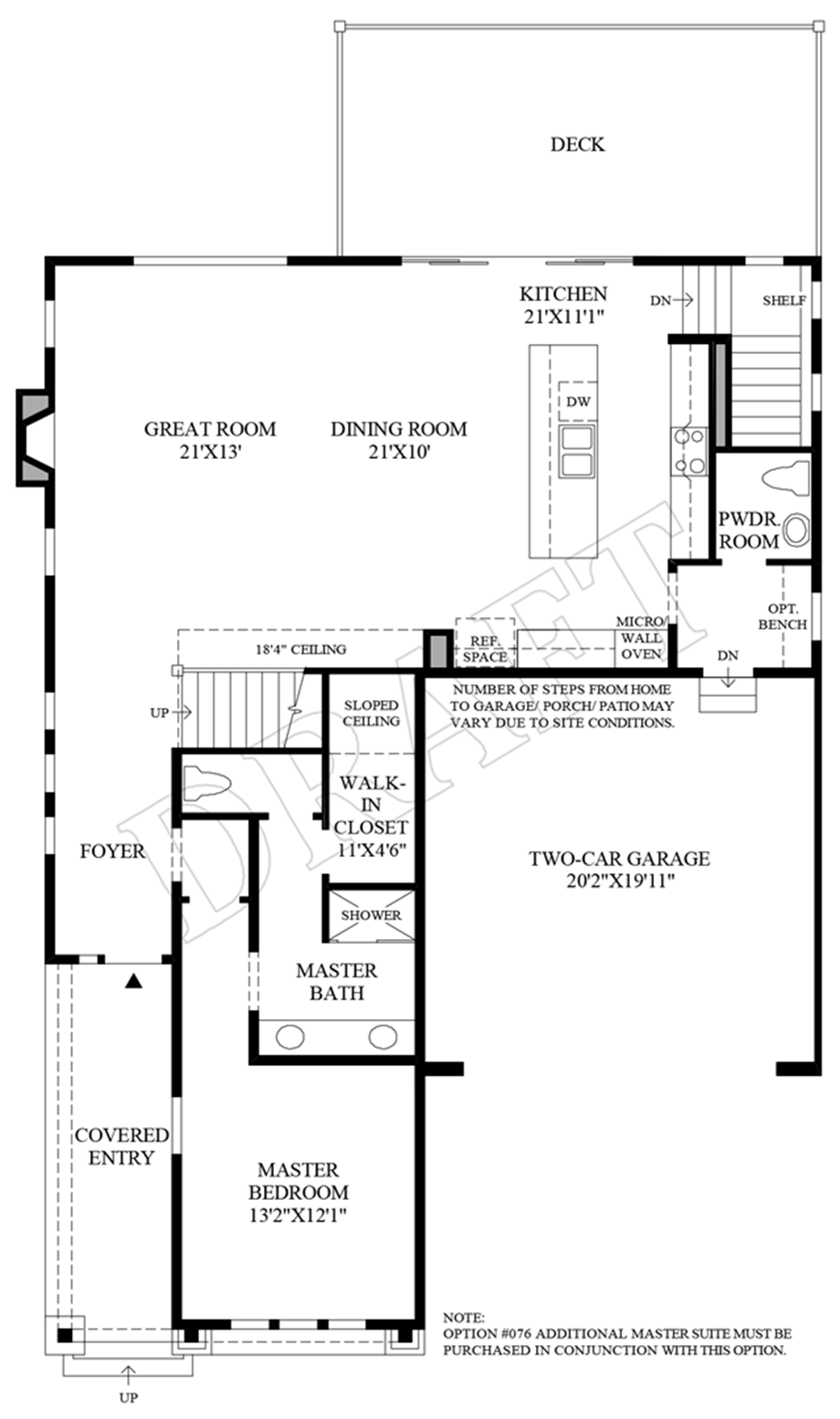 Optional Master Suite Floor Plan