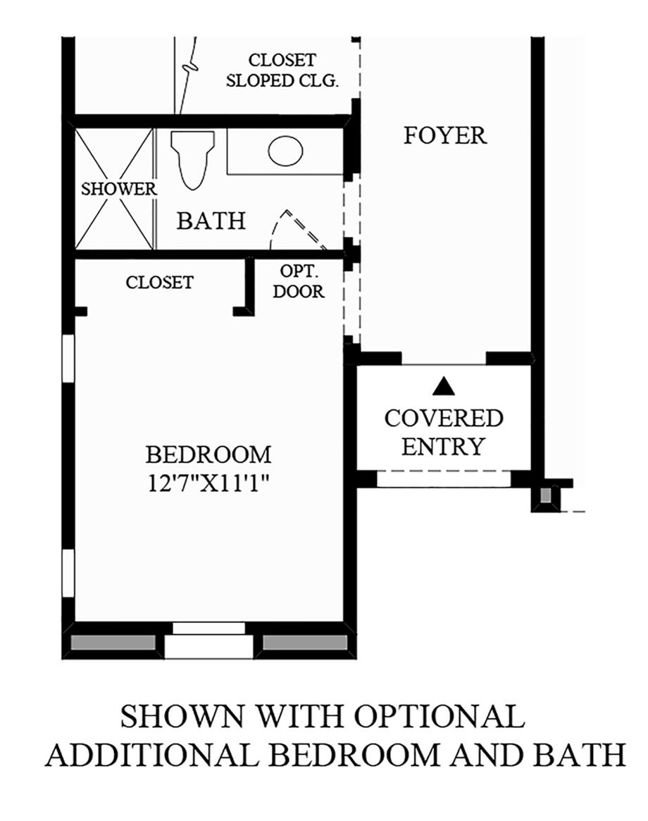Optional Additional Bedroom and Bath Floor Plan