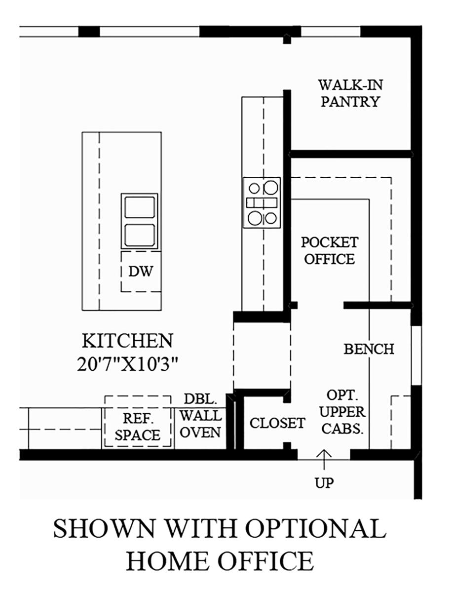 Optional Home Office Floor Plan