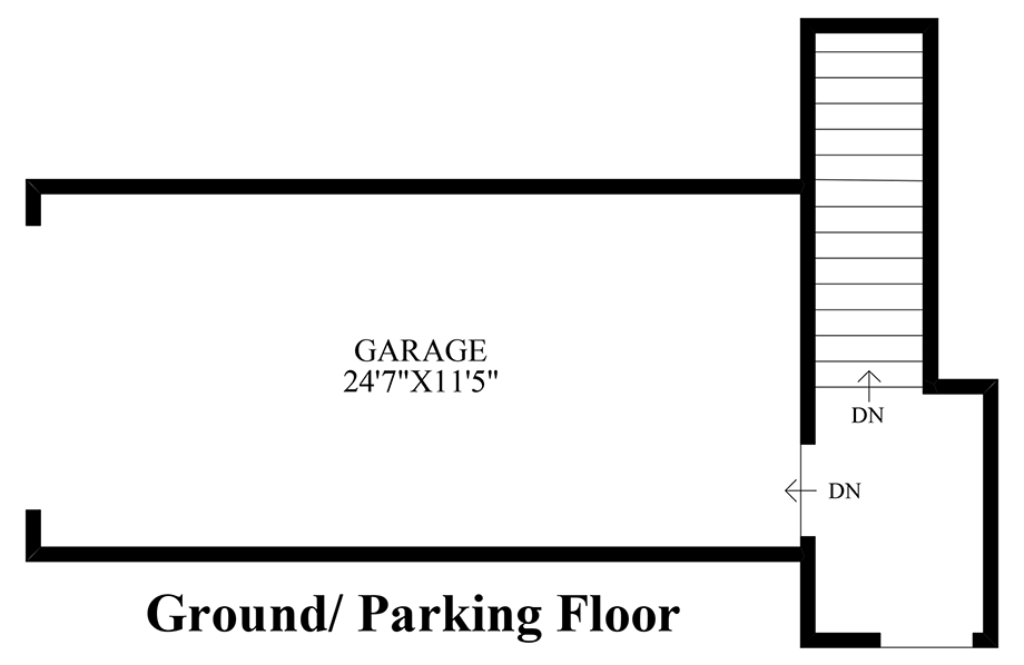 Ground/Parking Floor Floor Plan