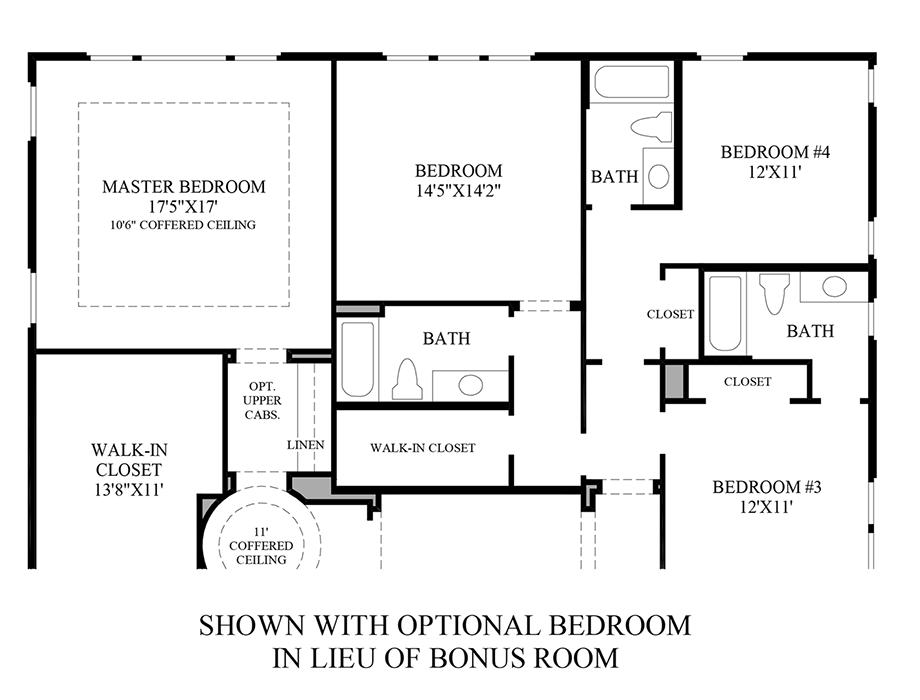 Optional Bedroom ILO Bonus Room Floor Plan
