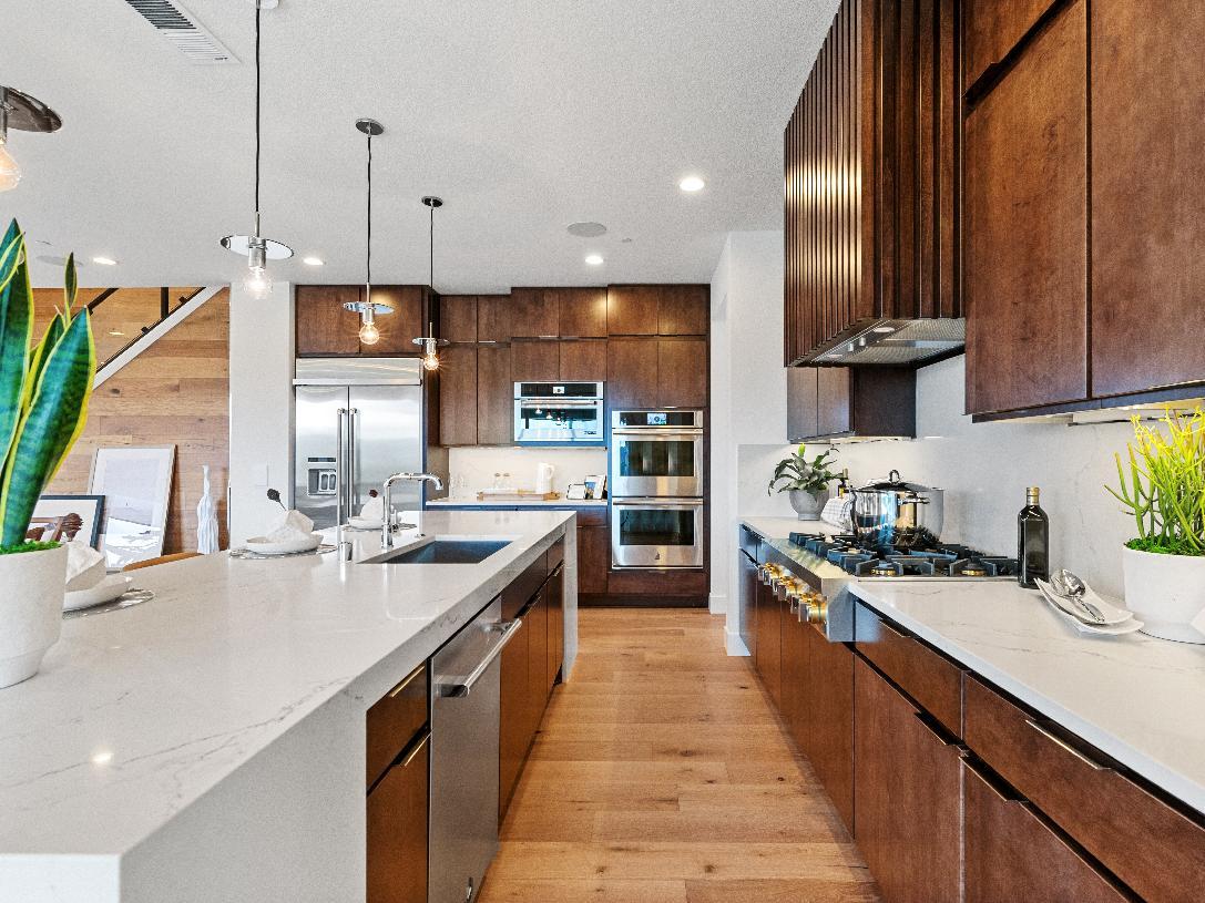 Well designed kitchen offers plenty of cabinet storage