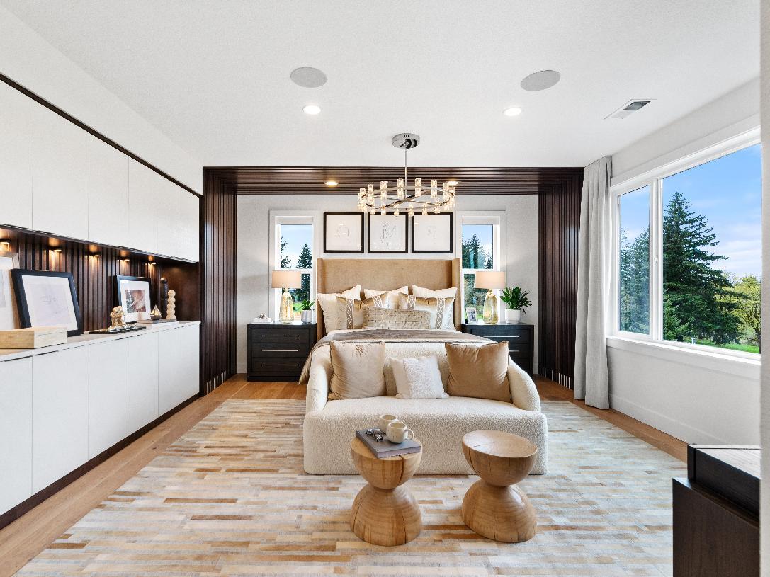 Stunning primary bedroom suite retreat