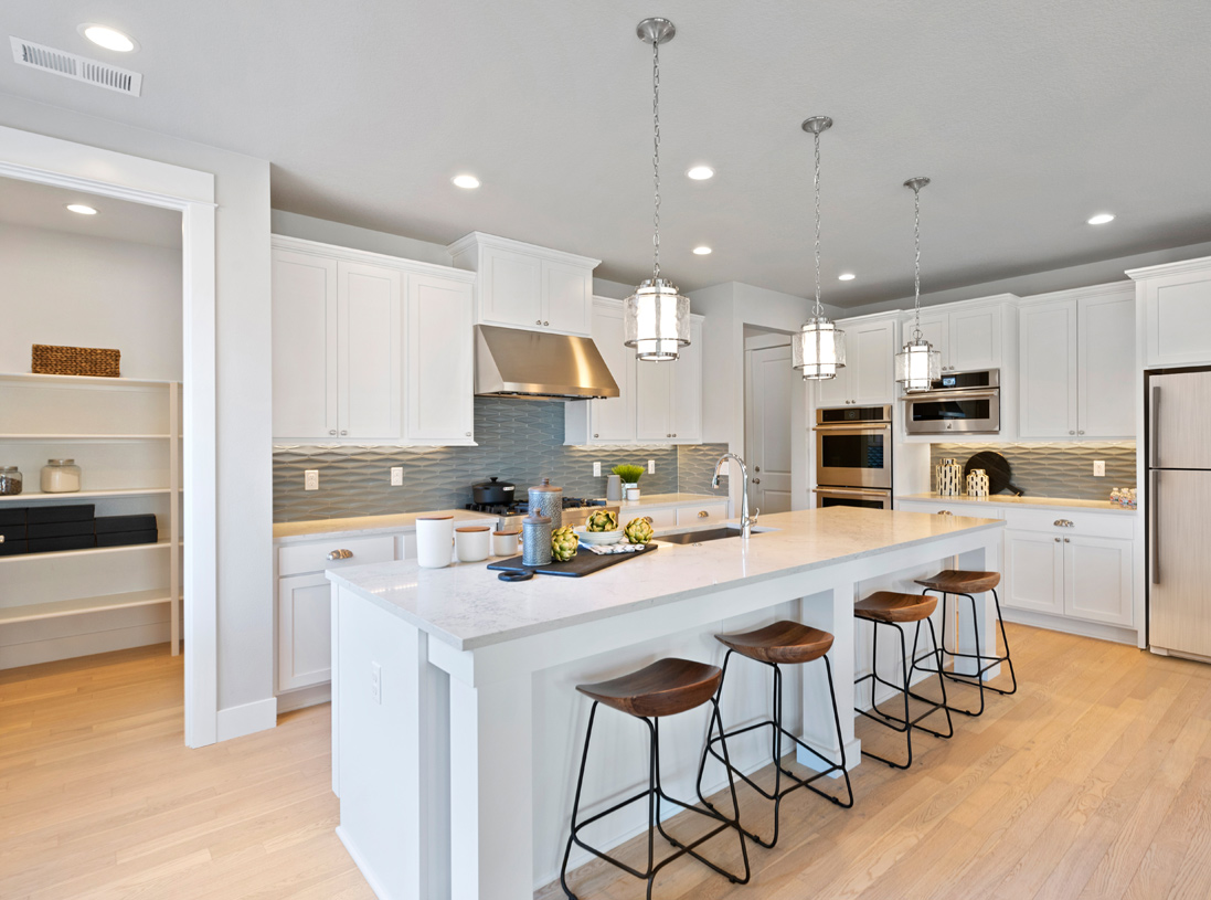 The Anacortes home features a large walk-in pantry off of the kitchen