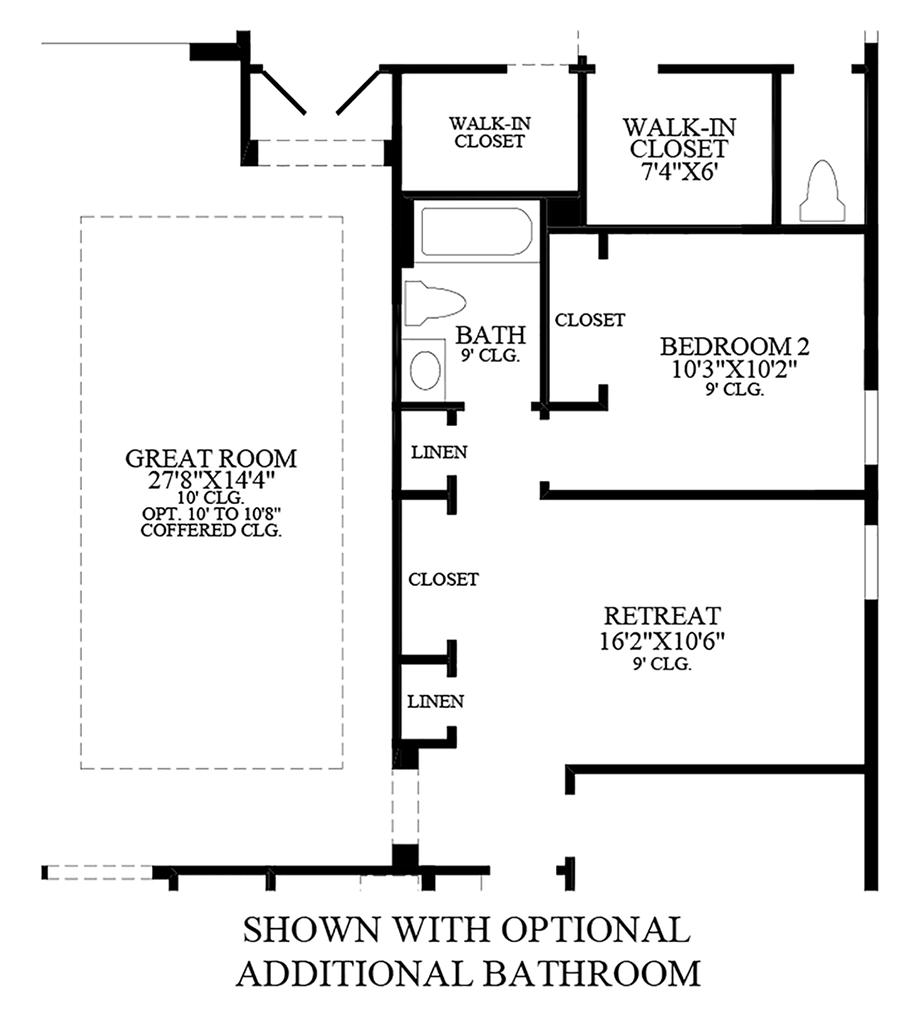 Optional Additional Bathroom Floor Plan