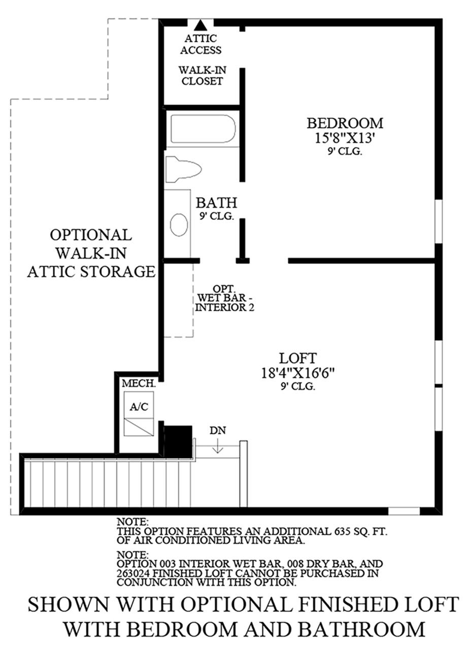 Optional Finished Loft w/ Bedroom & Bath Floor Plan