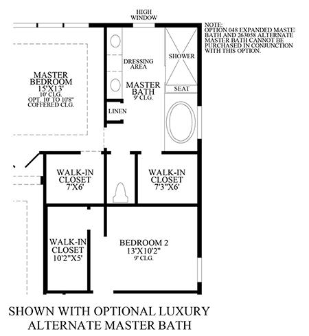 Optional Luxury Alternate Master Bath