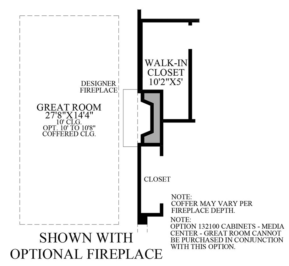 Optional Fireplace Floor Plan