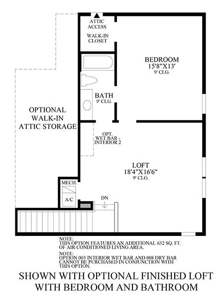 Optional Finished Loft w/ Bedroom & Bath