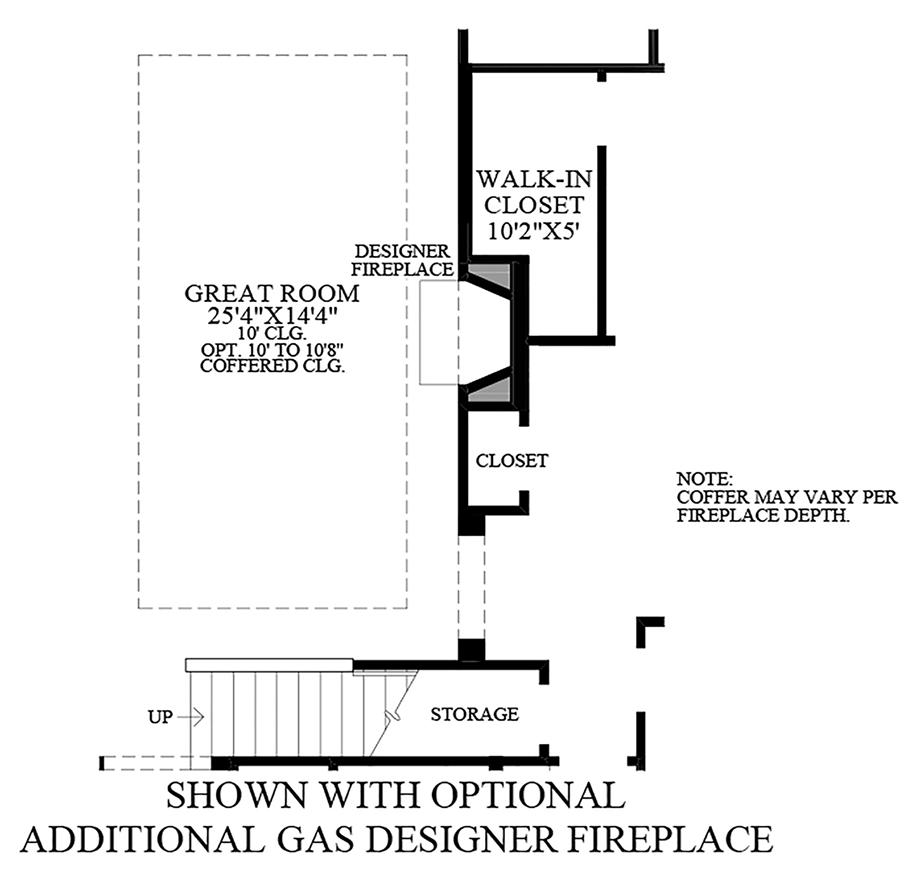 Optional Additional Gas Designer Fireplace Floor Plan