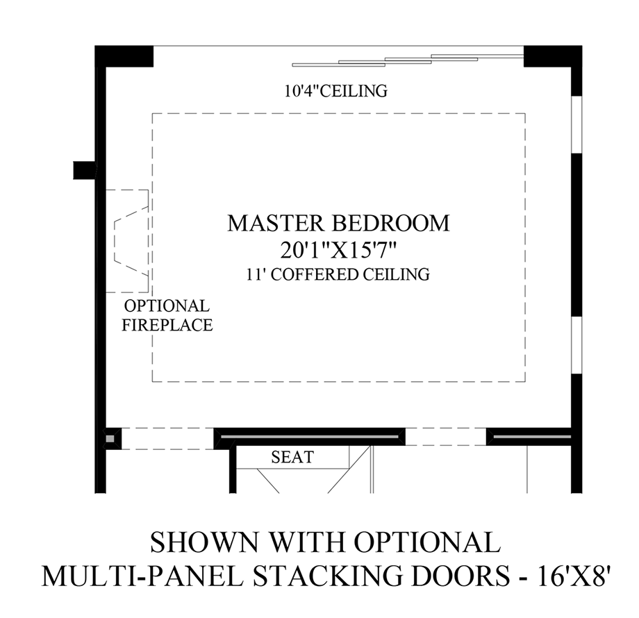 Optional Multi-Panel Stacking Doors Floor Plan