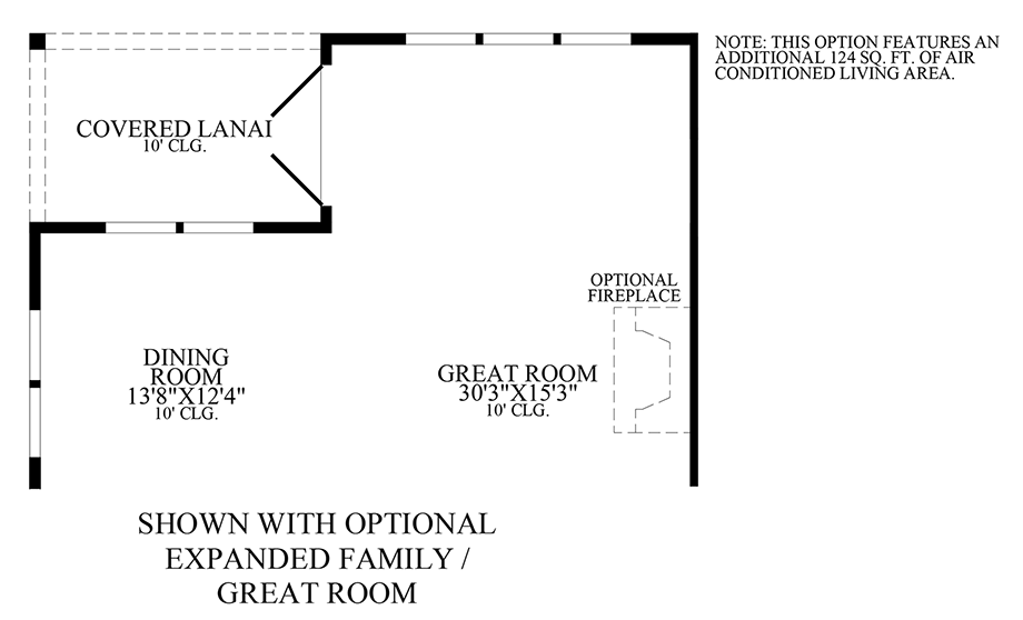 Optional Expanded Family/Great Room Floor Plan