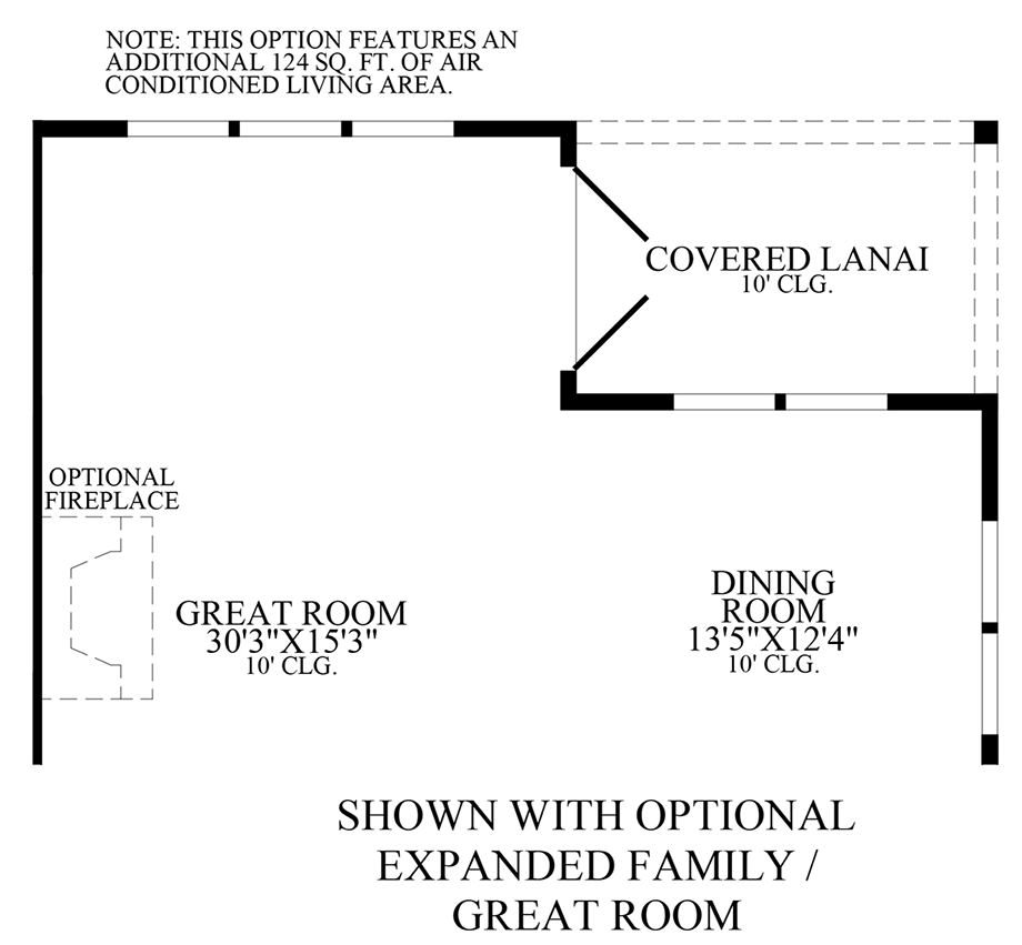 Optional Expanded Family Room/Great Room Floor Plan