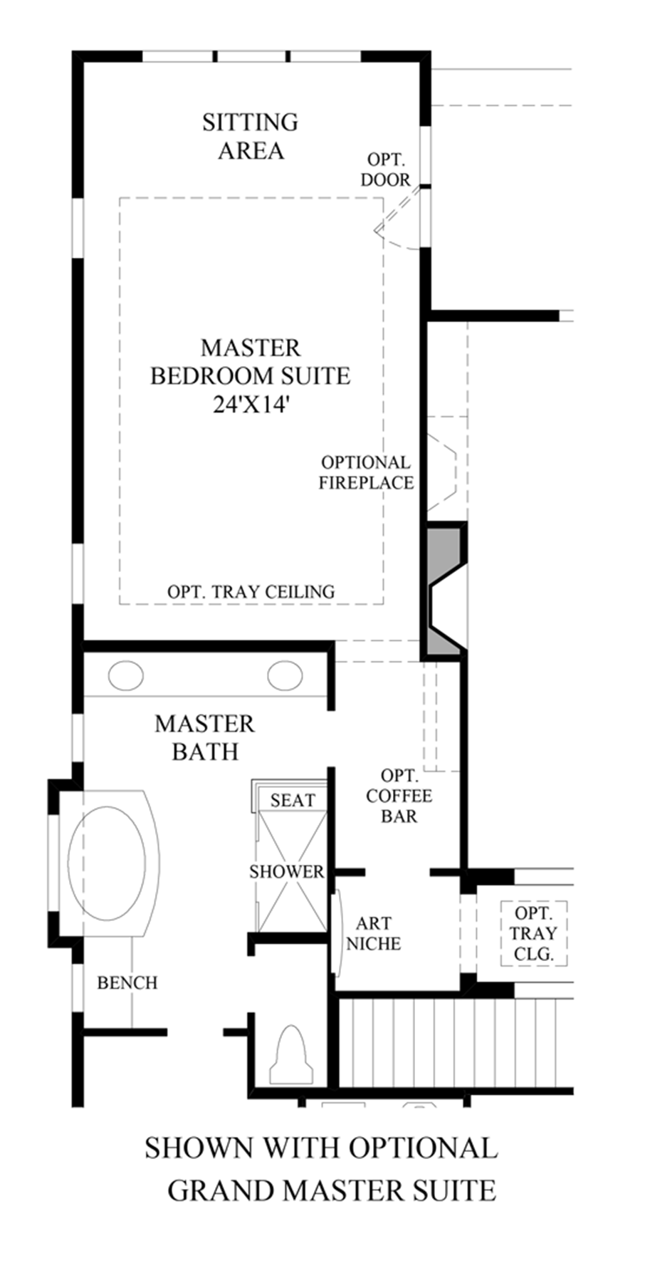 Optional Grand Master Suite Floor Plan