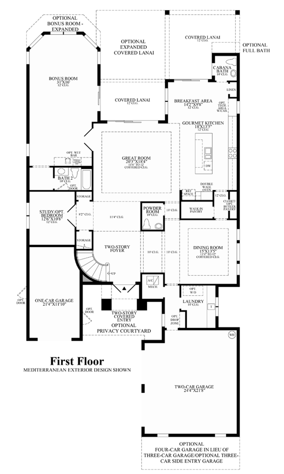 Parkland golf country club monogram collection the for Monogram homes floor plans