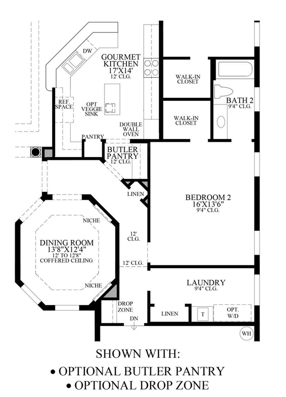 Optional Butler Pantry/Drop Zone Floor Plan