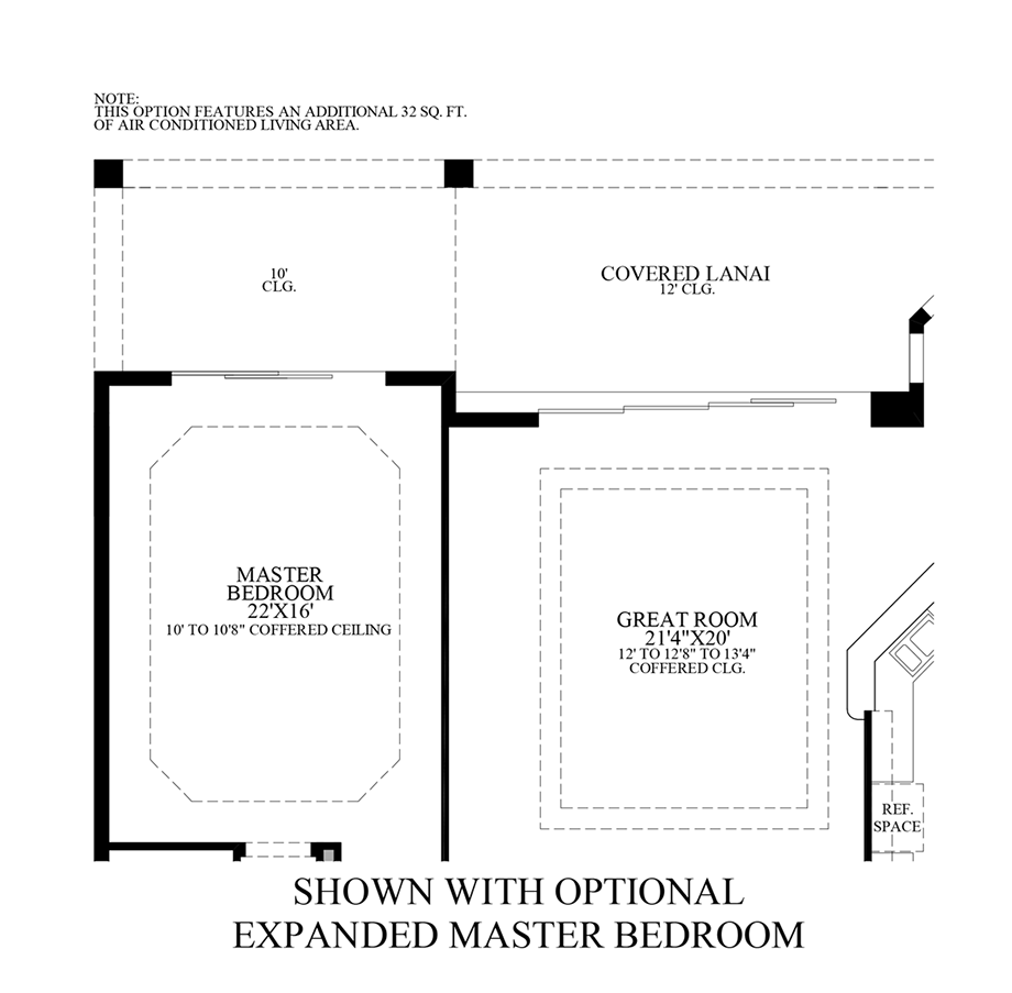 Optional Expanded Master Bedroom Floor Plan