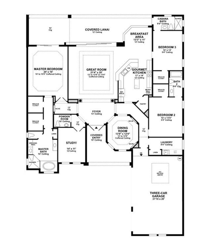 Aragon Bordeaux - Floor Plan