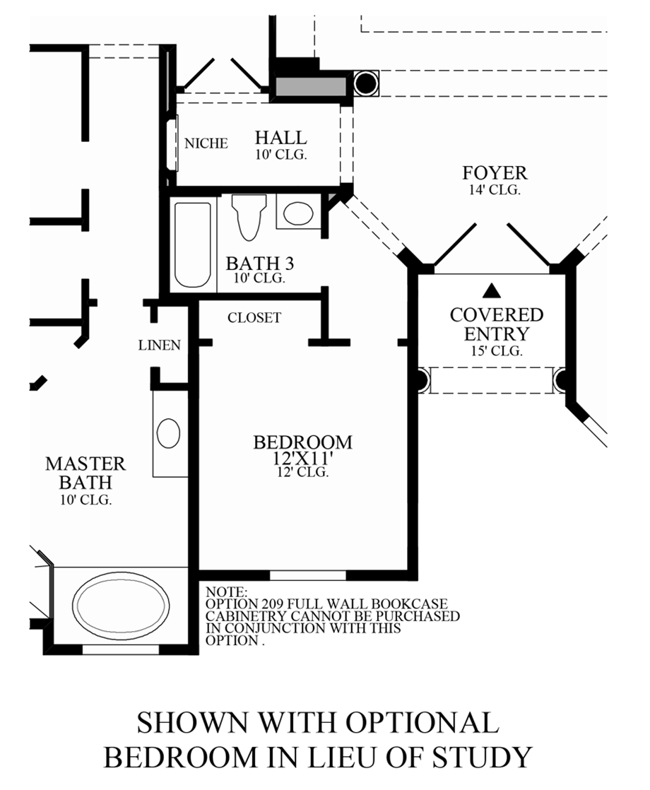Optional Bedroom ILO Study Floor Plan