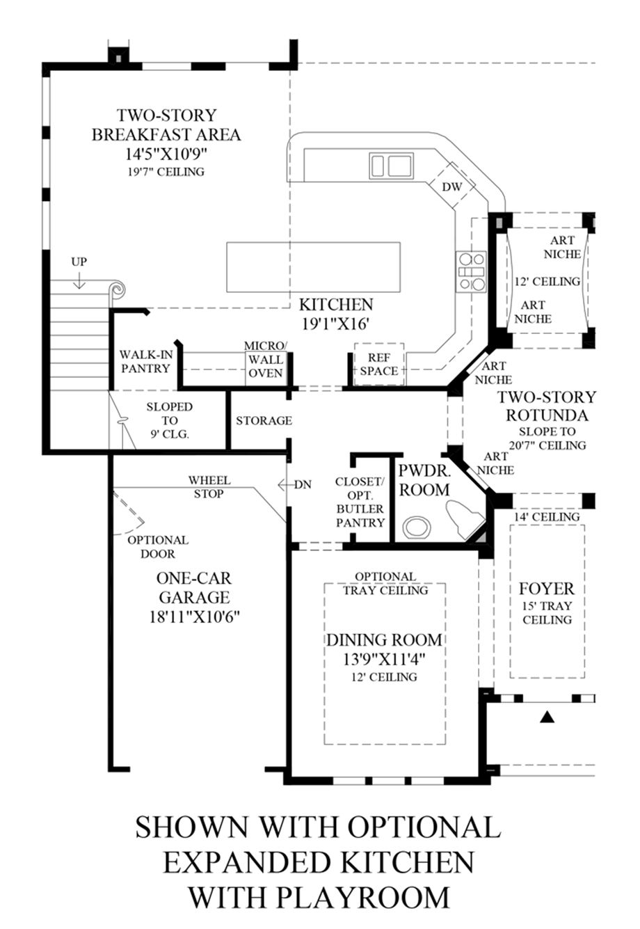 Optional Expanded Kitchen w/ Playroom Floor Plan