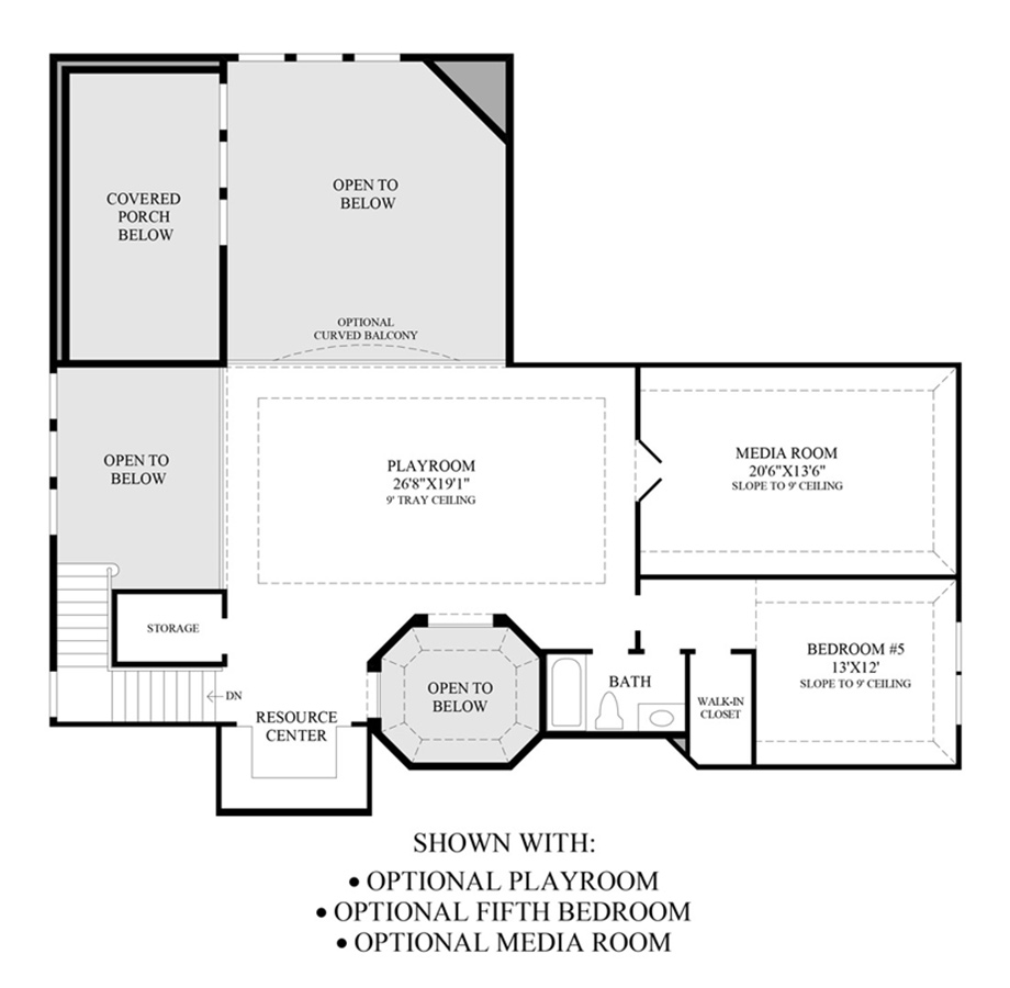 Optional 2nd Floor Floor Plan