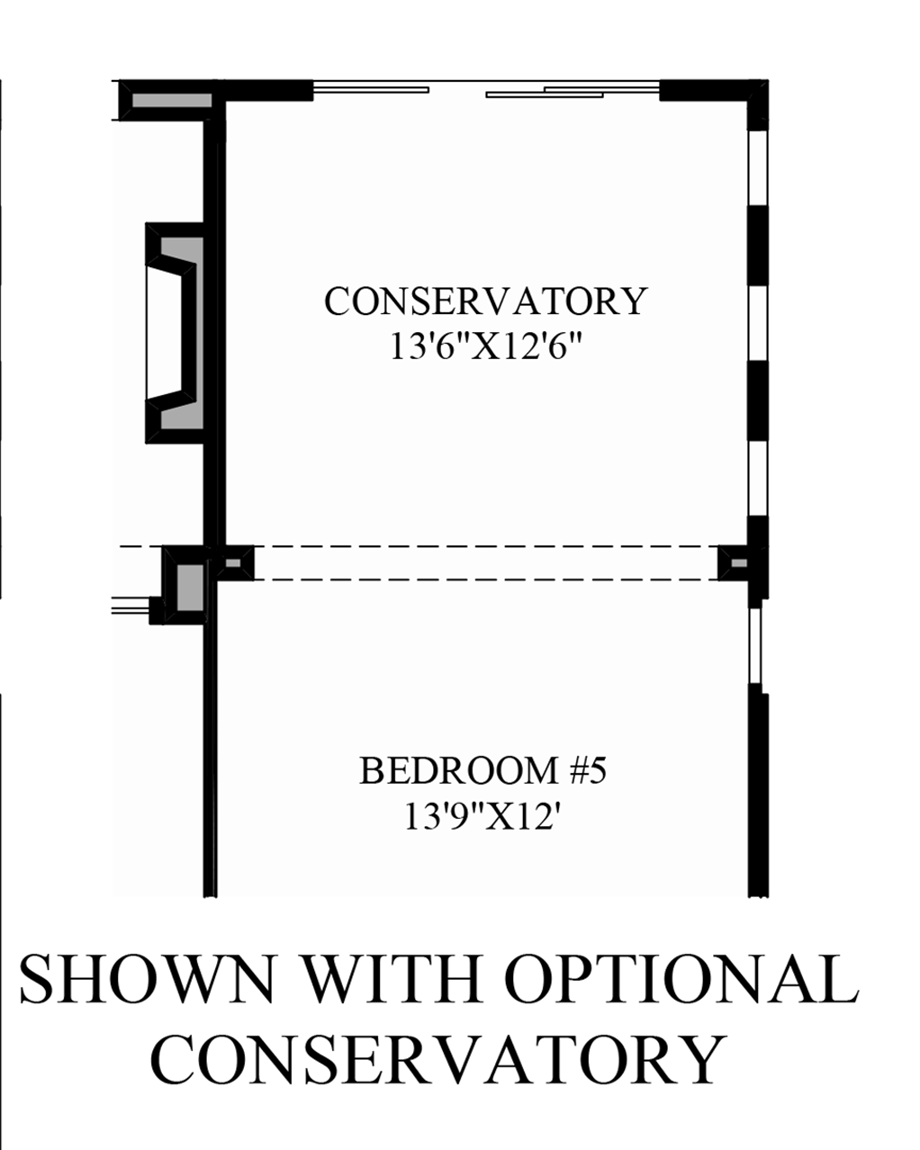 Optional Conservatory Floor Plan