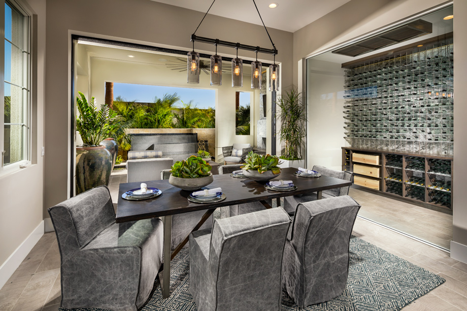Dining Room Leads To Luxury Outdoor Living Space