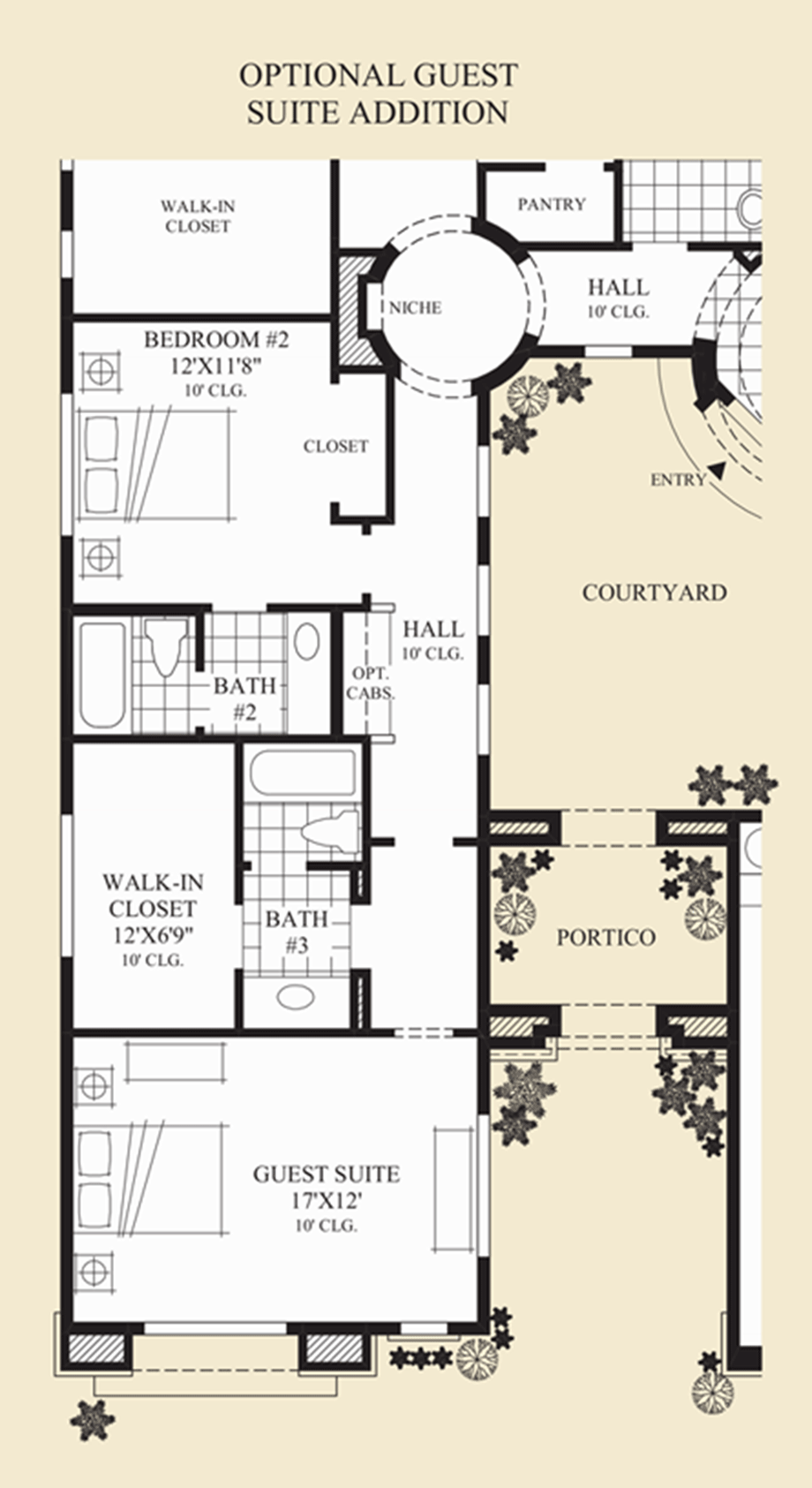 Optional Guest Suite Addition Floor Plan