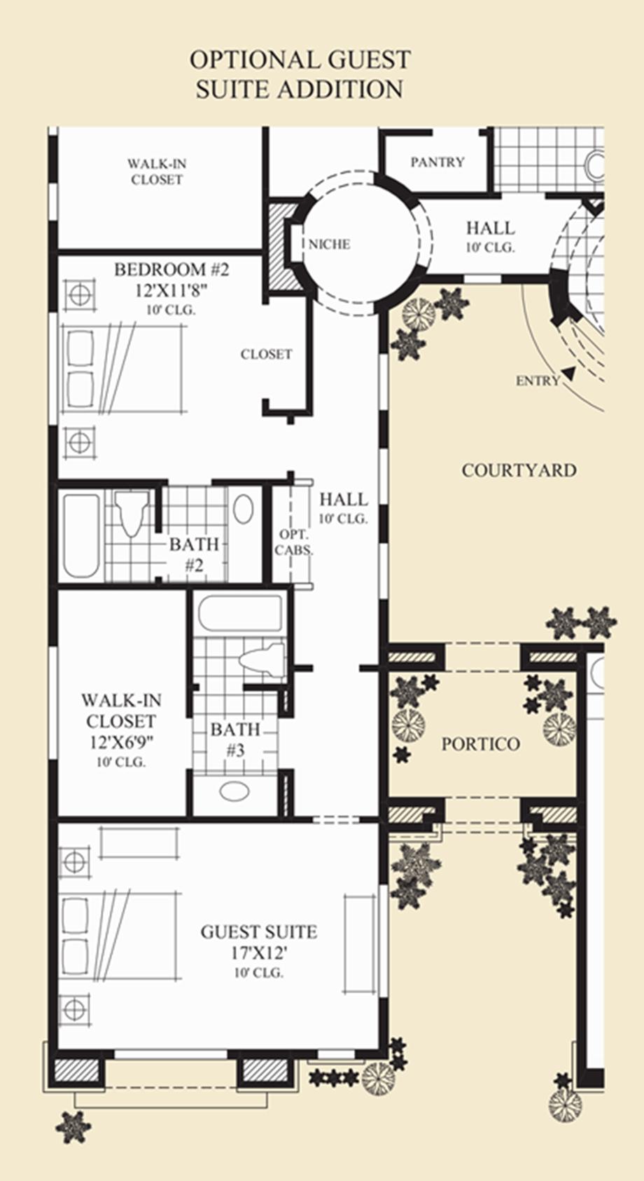 Optional Guest Suite Addition Floor Plan