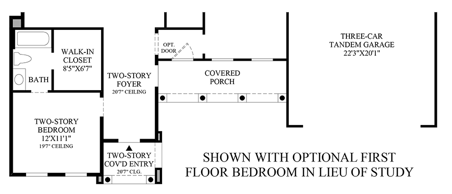 Optional Bedroom ILO Study (1st Floor) Floor Plan