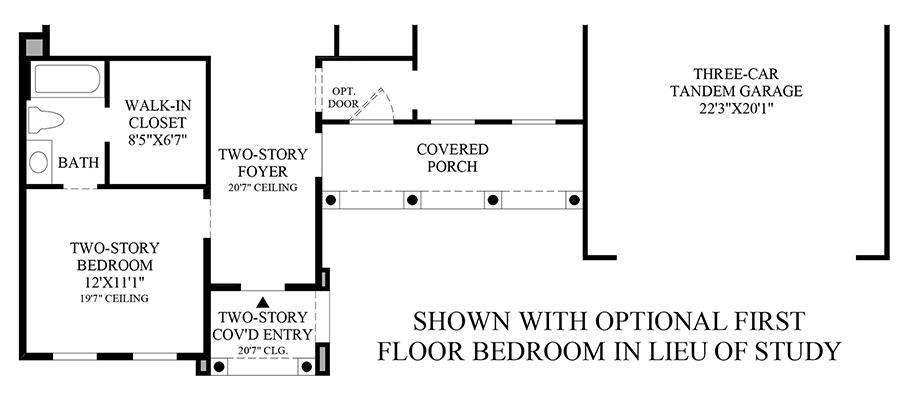 Optional Bedroom ILO Study (1st Floor) Floor Plan