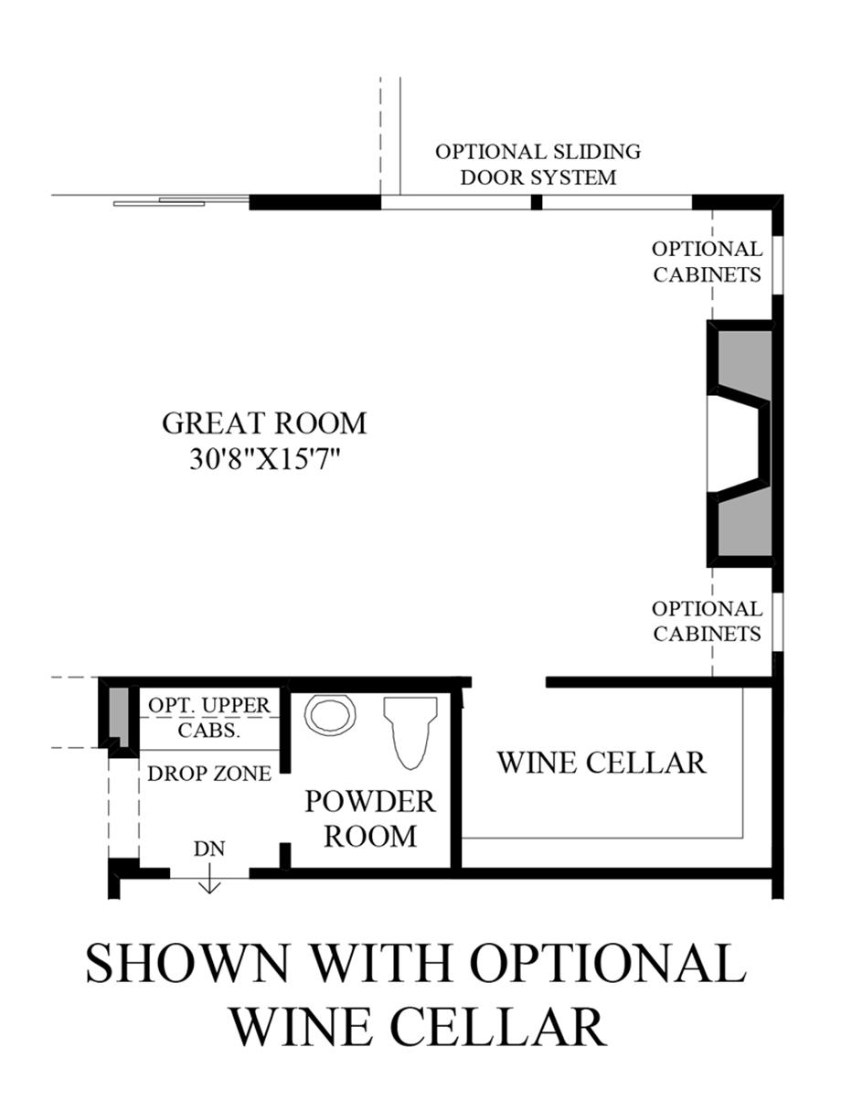Optional Wine Cellar Floor Plan
