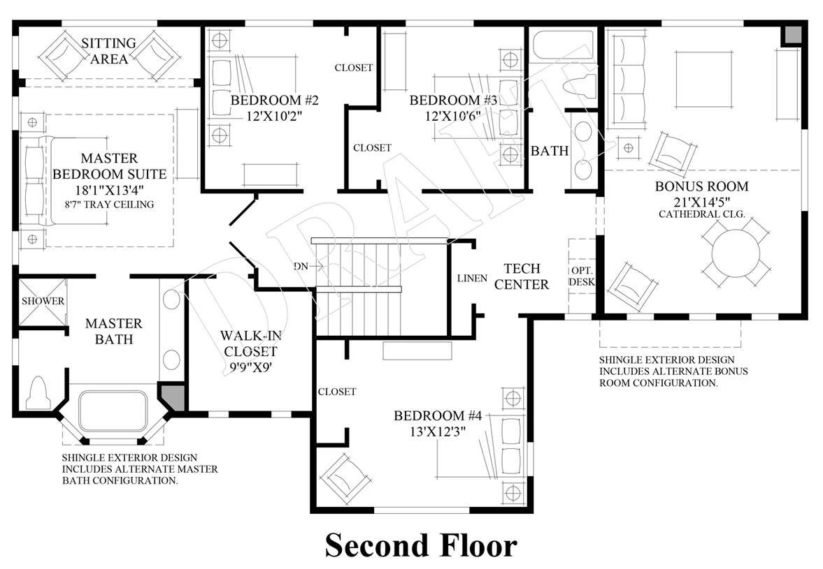 Master Bedroom Suites Floor Plans Bayview At Gig Harbor The Tacoma Home Design