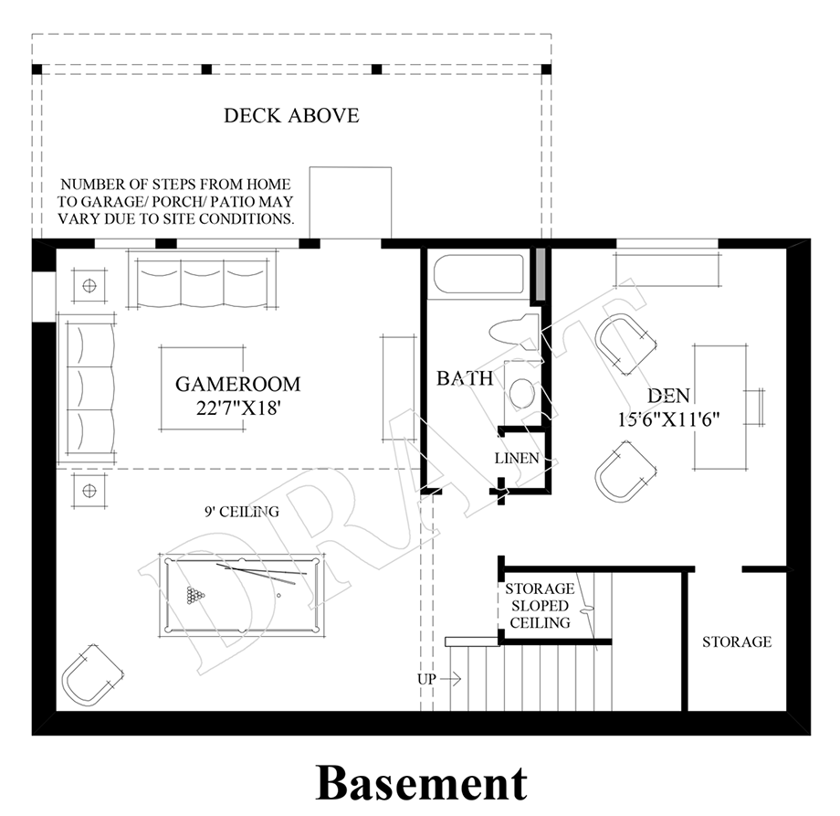 Bayview at gig harbor the ashland with basement home design for Home plans with basement floor plans