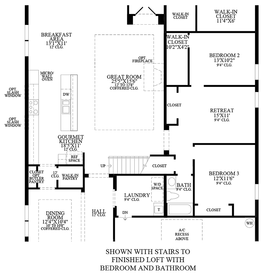 Stairs to Finished Loft w/ Bedroom & Bathroom Floor Plan