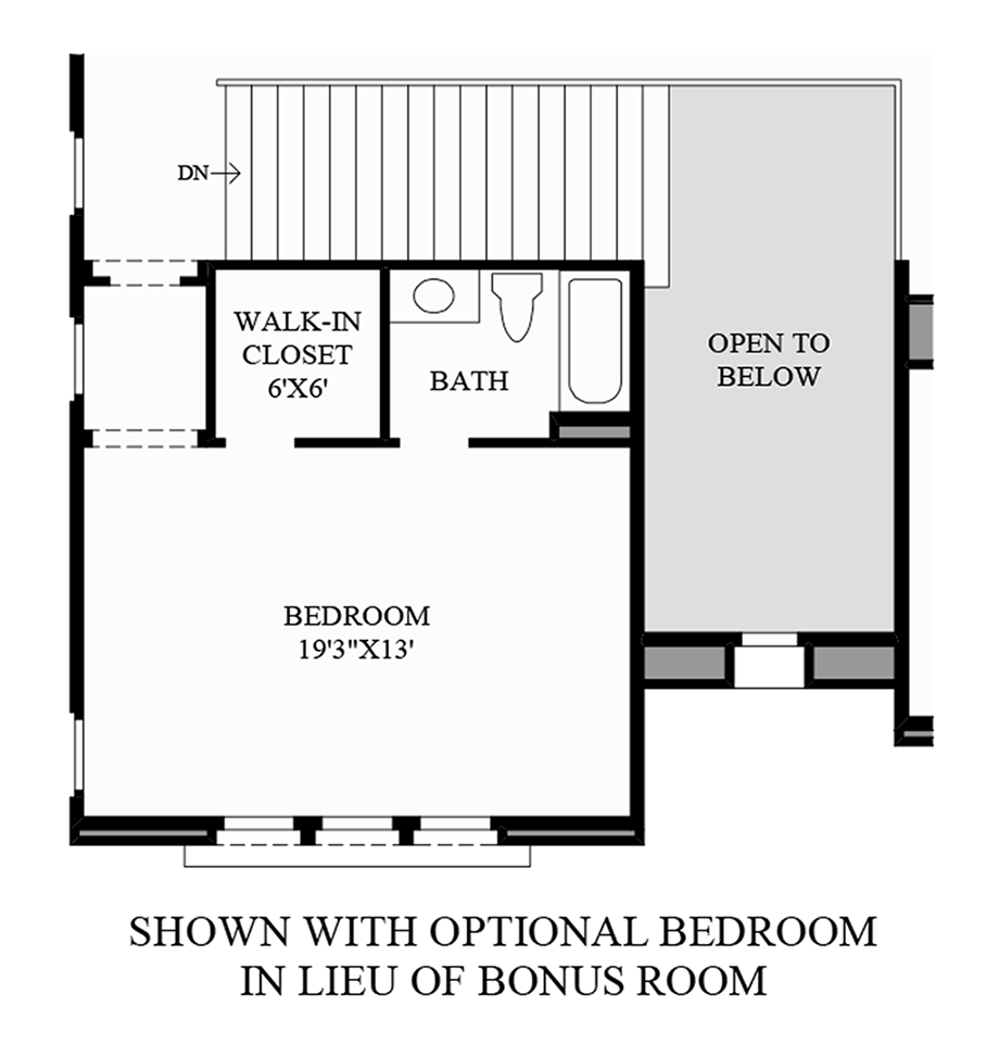 Optional Bedroom In Lieu Of Bonus Room Floor Plan