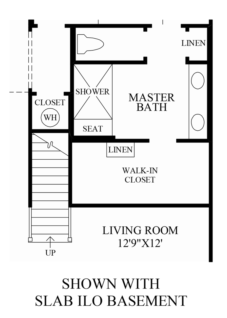 Optional Slab ILO Basement Floor Plan