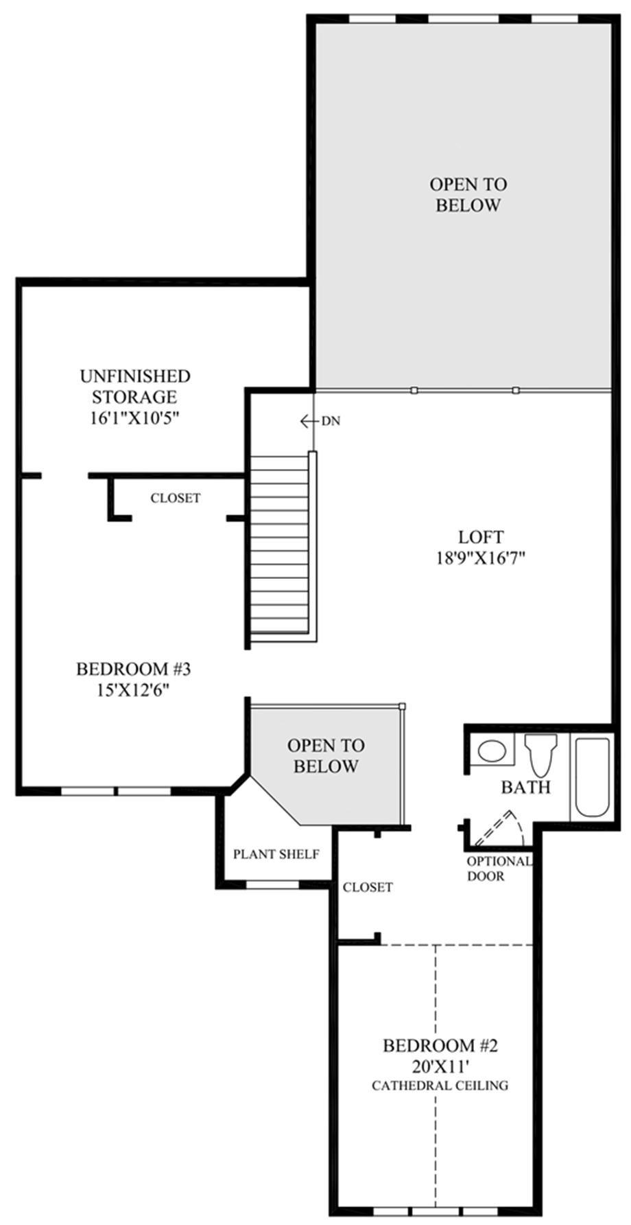 Optional 3rd Bedroom Floor Plan