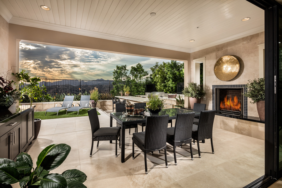 Avila at porter ranch glen collection the augusta home for Luxury outdoor living