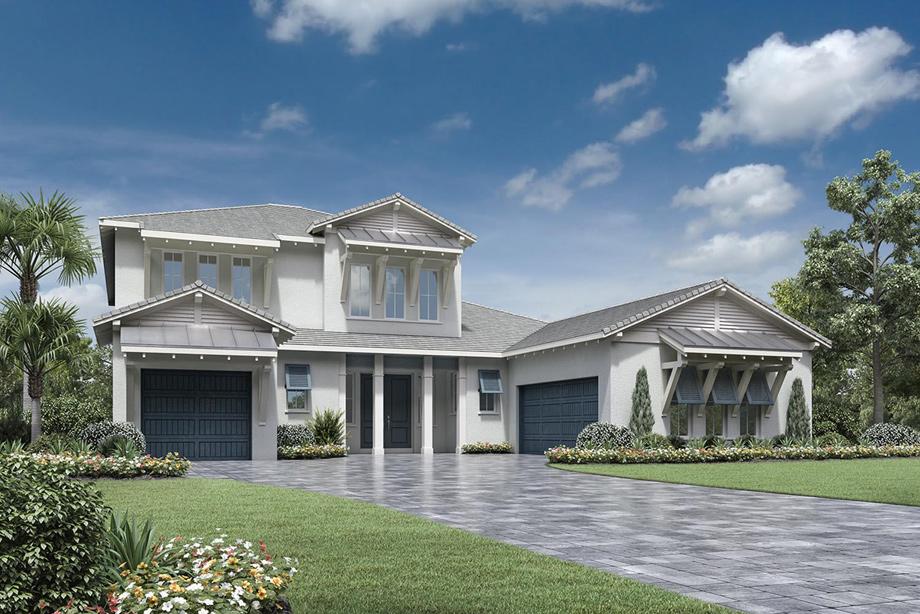 Naples Fl New Construction Homes Azure At Hacienda Lakes