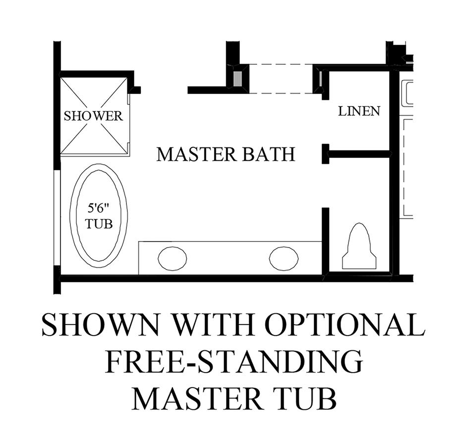 Optional Free-Standing Master Tub Floor Plan