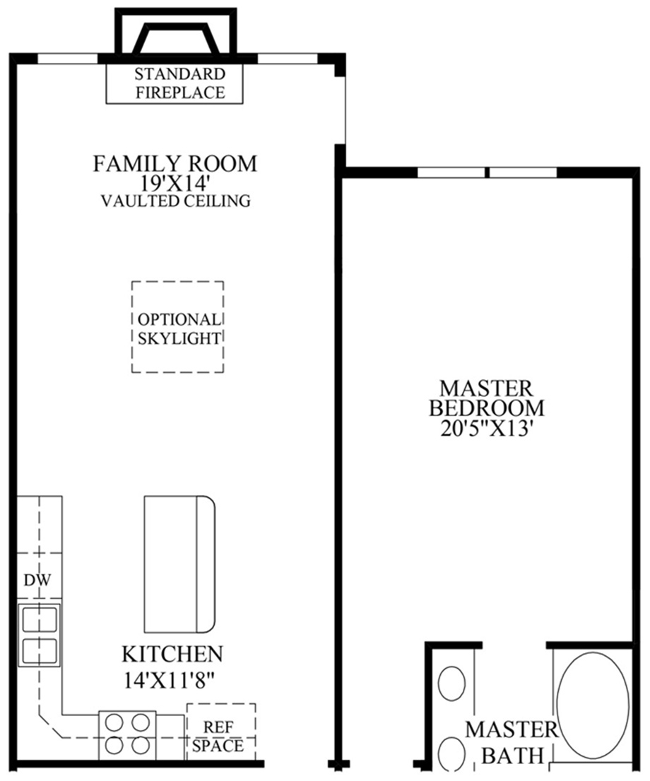 Optional Expanded Family Room & Grand Master Suite Floor Plan