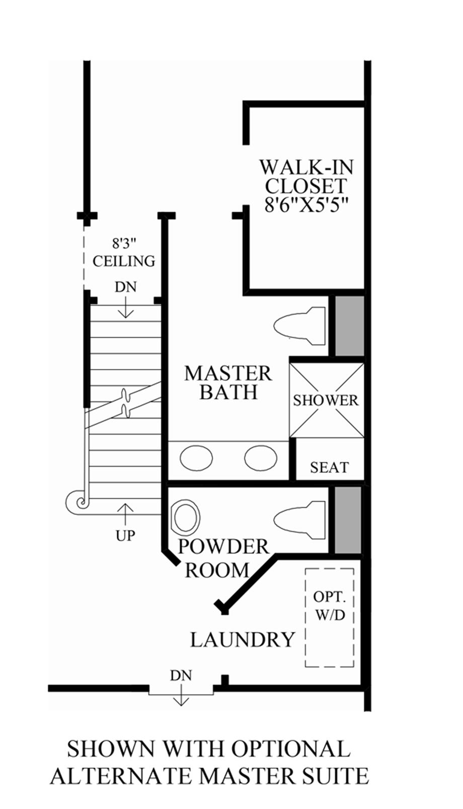 Optional Alternate Master Suite Floor Plan