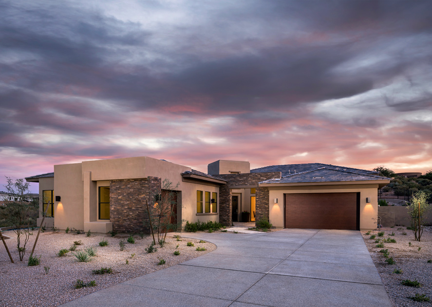 Talon ranch quick delivery home azure desert contemporary for Modern home builders phoenix