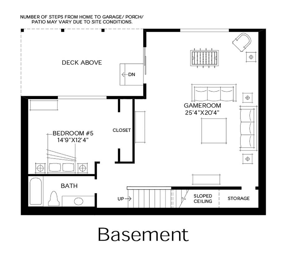 Woodhaven the broadmoor home design for 1800 basement