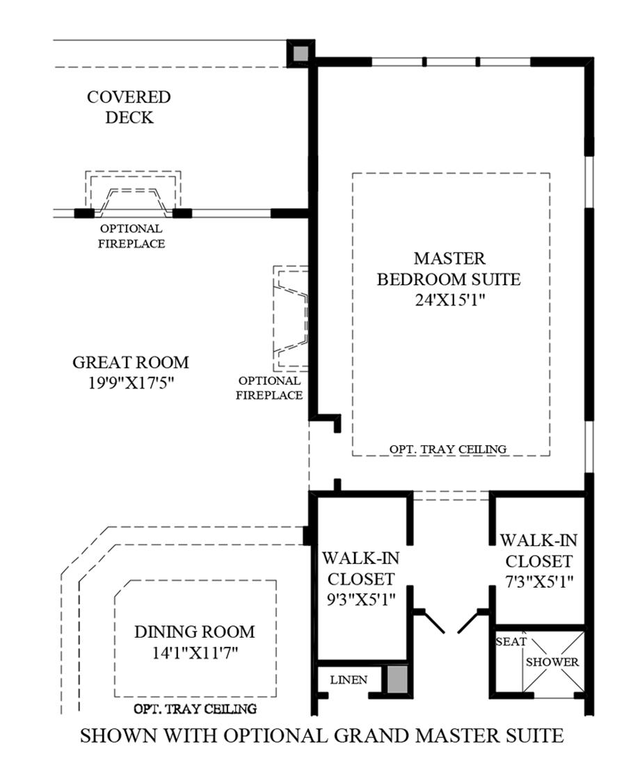 Optional Grand Master Suite Floor Plan