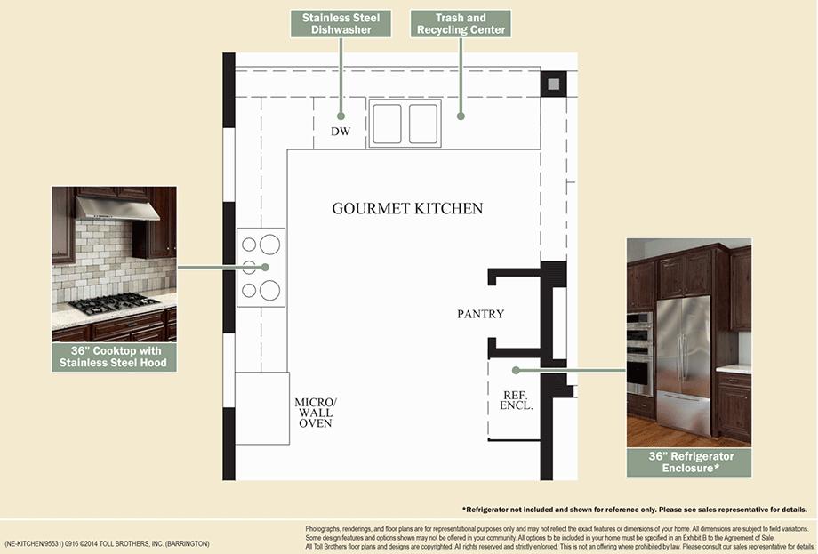 Outstanding kitchen features floor plan for Barrington floor plan