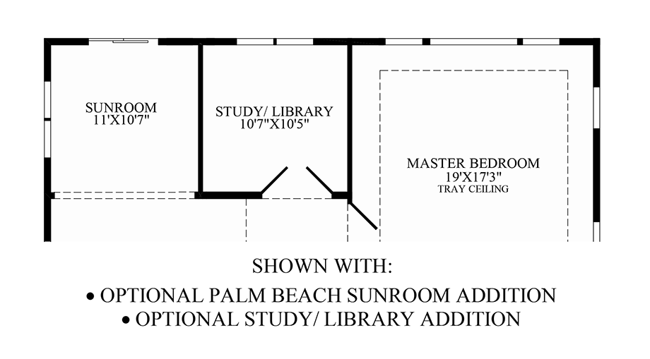 Optional Palm Beach Sunroom Addition & Study/Library Addition Floor Plan