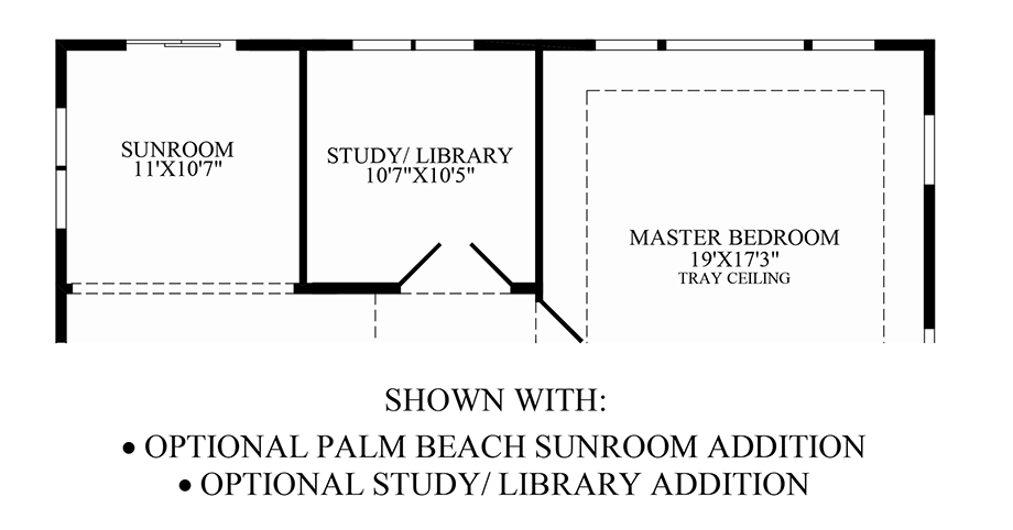 Optional Palm Beach Sunroom Addition/Study Floor Plan